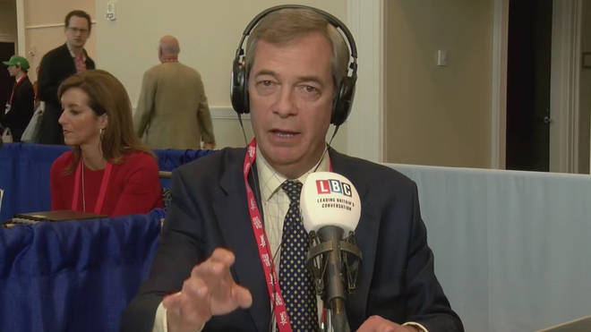 Nigel Farage was broadcasting live from CPAC 2018