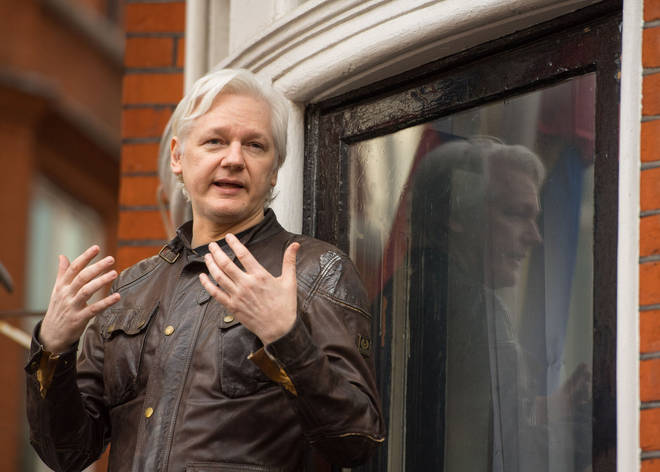 Julian Assange made regular public appearances from the embassy