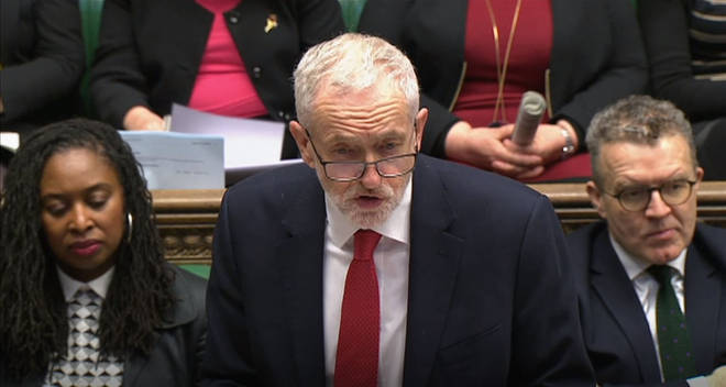 Jeremy Corbyn addresses the Commons