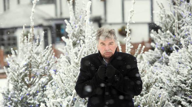 John Kettley in the snow