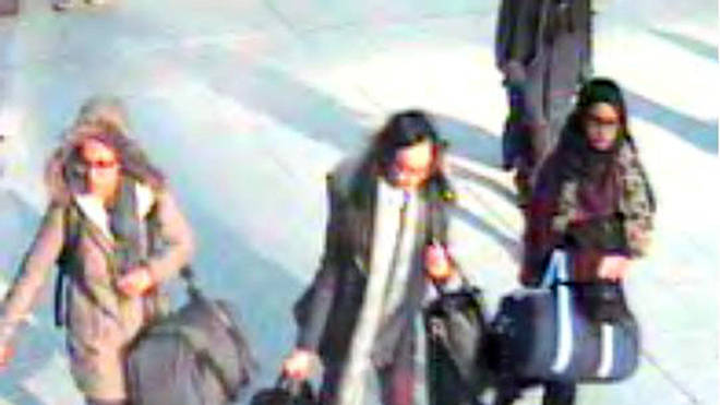 Shamima Begum, right, was one of three girls to travel to Syria to join the Islamic State