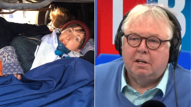Nick Ferrari Extinction Rebellion protester