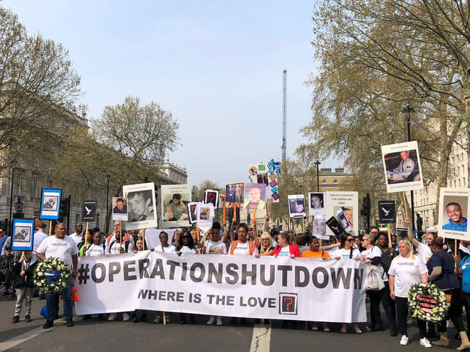 Operation Shutdown protesters in Whitehall