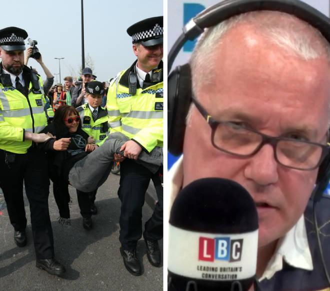 Eddie Mair asked the Met Police whether they were prepared to arrest everyone on Waterloo Bridge