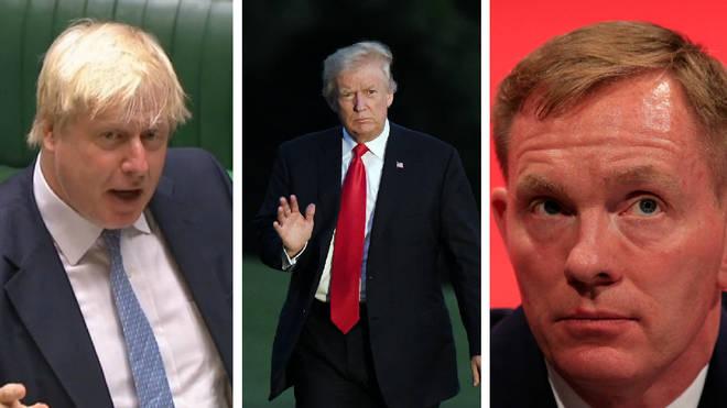 Boris Johnson. Donald Trump. Chris Bryant