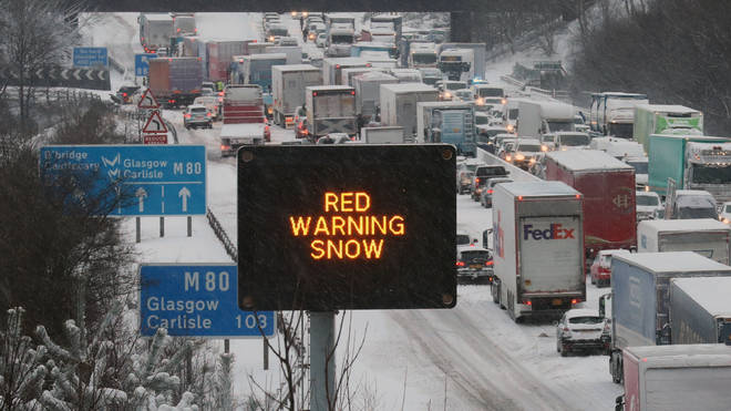 A red weather warning has been issued for parts of Scotland