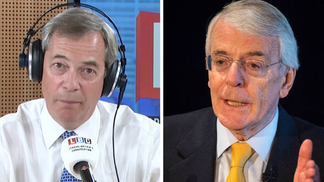 Nigel Farage John Major
