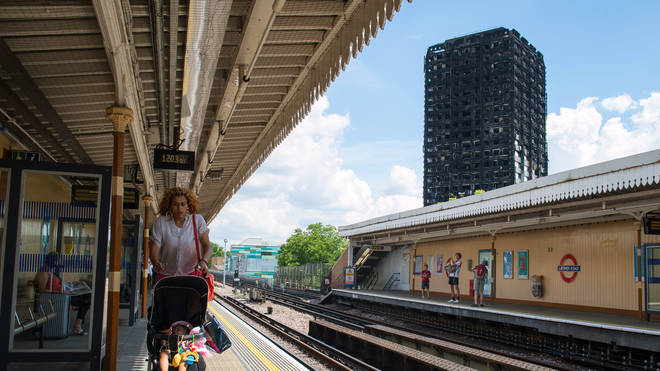 Latimer Road station in the shadow of Grenfell Tower