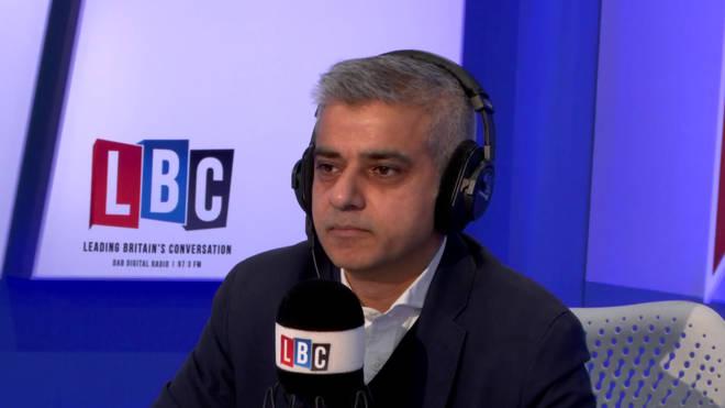 An emotional Sadiq Khan, discussing Darren Osborne's threats
