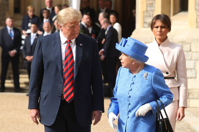 US President Donald Trump met with the Queen in 2018 while on a working visit to the UK.