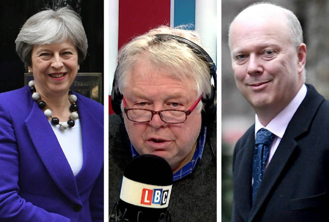 Theresa May, Nick Ferrari, Chris Grayling