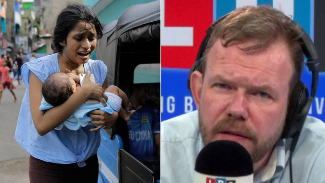James O'Brien was moved when he spoke of the Sri Lanka terror attacks