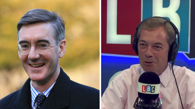 Nigel Farage Jacob Rees-Mogg