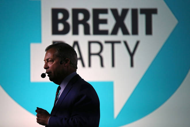 Nigel Farage speaks at the launch of The Brexit Party