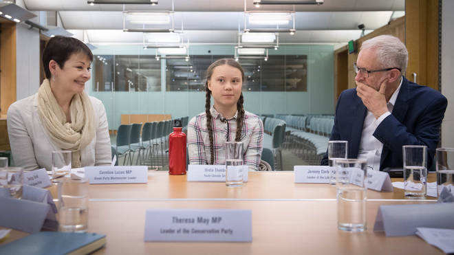 Greta Thunberg spoke to opposition leaders earlier this week