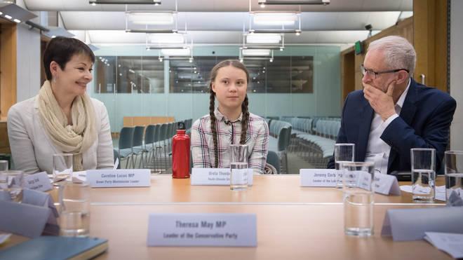 Greta Thunberg spoke to opposition leaders earlier this week