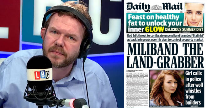 James O'Brien recalled the Daily Mail headline criticising Ed Miliband