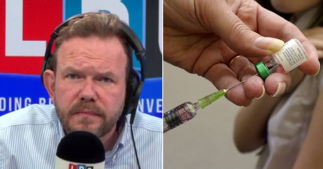 James O'Brien had no time for speaking to anti-vaxxers
