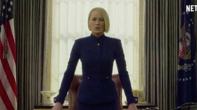Claire Underwood, played by Robin Wright, takes centre stage in season 6