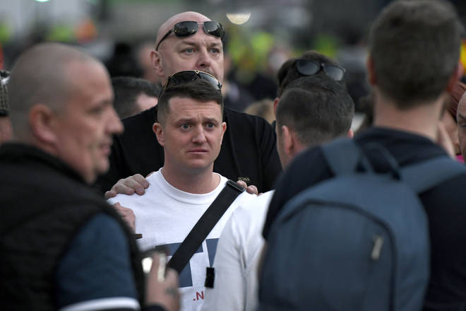 Community leaders in the Wythenshawe area of Manchester say the EDL founder Tommy Robinson is not welcome there.