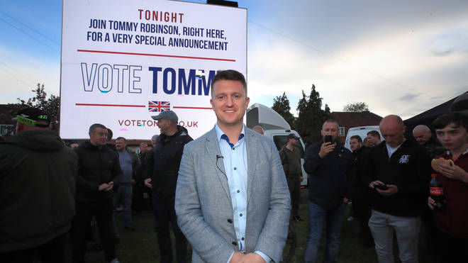 Tommy Robinson announced his plan to stand in the EU elections on Thursday