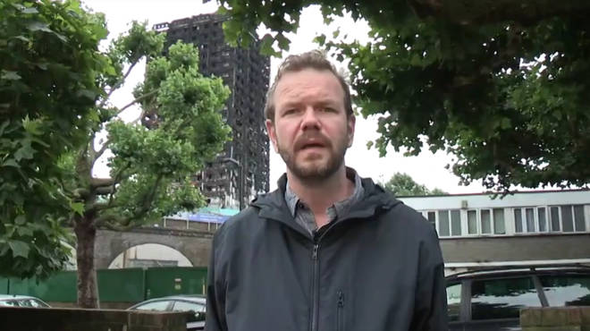 James O'Brien at the Grenfell Tower