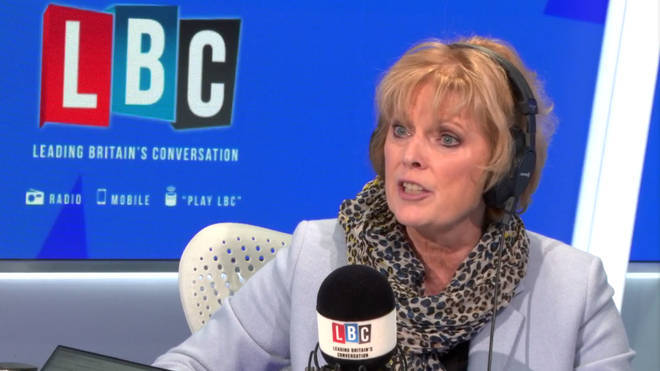 Anna Soubry in the LBC studio