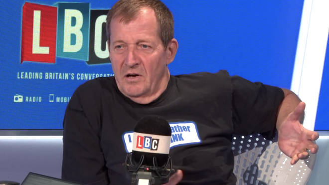 Alastair Campbell in the LBC studio