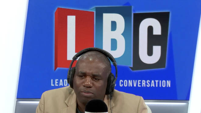 David Lammy in the LBC studio