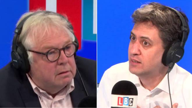 Ed Miliband joined Nick Ferrari in the LBC studio