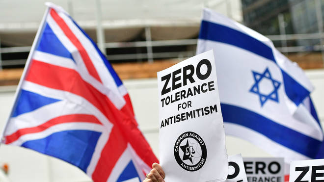 Protests against anti-Semitism in the Labour party