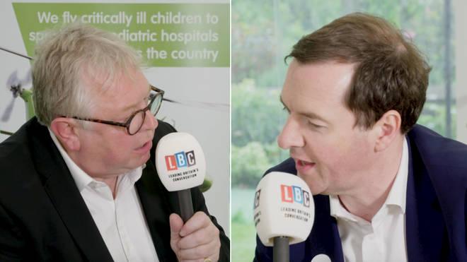 Nick Ferrari was speaking to George Osborne