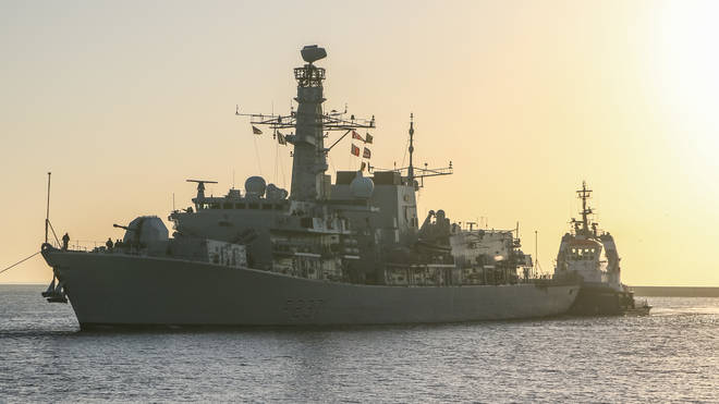 Royal navy warships must be built in the UK for security reasons.
