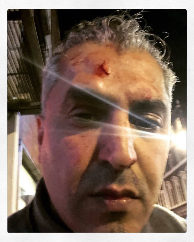Maajid Nawaz in the immediate aftermath of the attack.