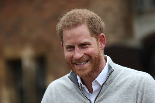 Prince Harry was delighted to announce the birth of his son at Windsor Castle