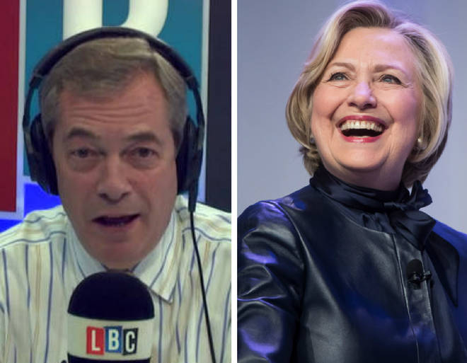 Nigel Farage Hillary Clinton
