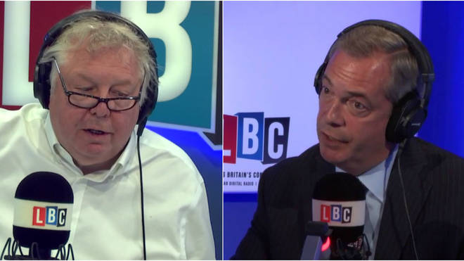 Nick Ferrari and Nigel Farage