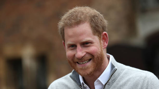 Prince Harry announces the birth of his son