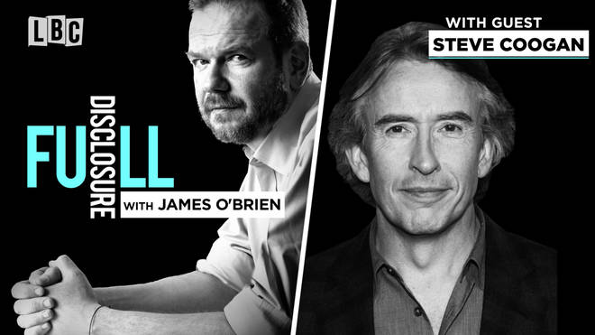 James O'Brien with Steve Coogan