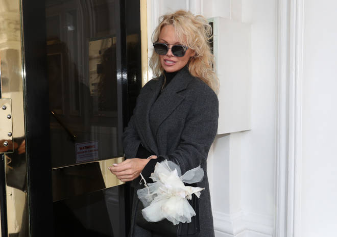 Pamela Anderson visiting the Wikileaks founder at the Ecuadorian embassy in London.