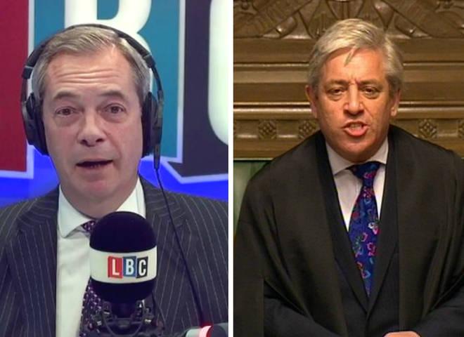 Nigel Farage John Bercow