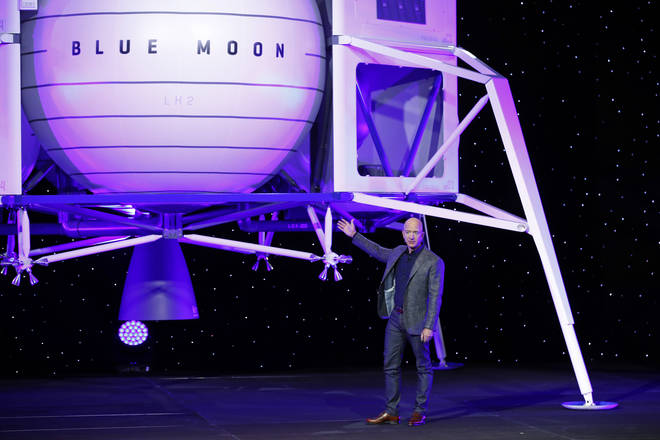 The Blue Moon lander will be ready by 2024 according to Jeff Bezos.