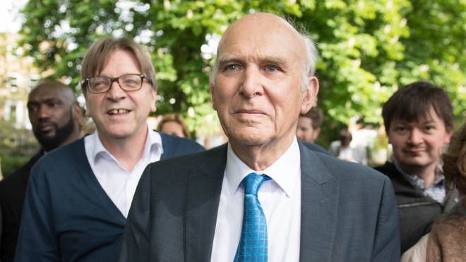 Vince Cable was campaigning with Guy Verhofstadt