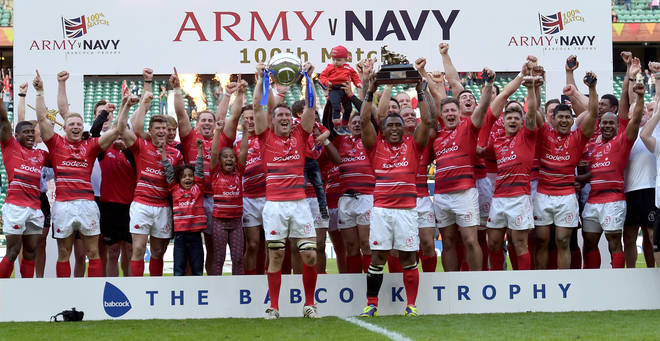 The army won the match for the third year in a row.