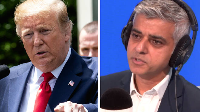 Sadiq Khan risked reigniting a feud with Donald Trump ahead of the US President's state visit