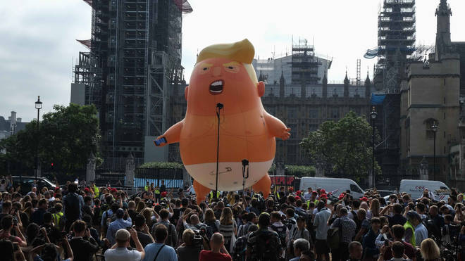 "The London Mayor allowed a ""Baby Trump"" blimp to be flown over the capital in 2018"