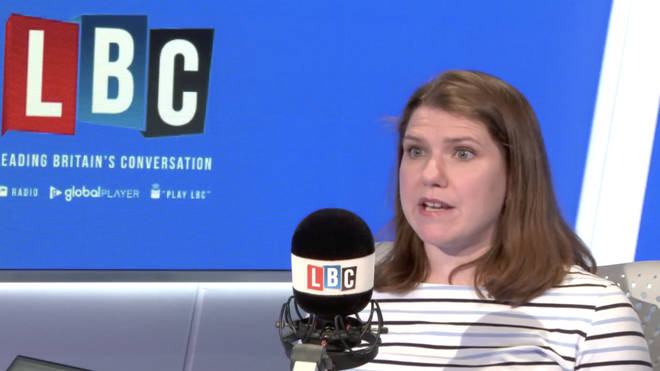 Lib Dem deputy leader Jo Swinson in the LBC studio