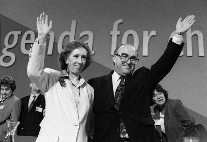 John Smith with Margaret Beckett at the Labour Party Conference in 1992