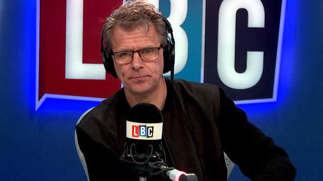 Andrew Castle in the LBC studio.