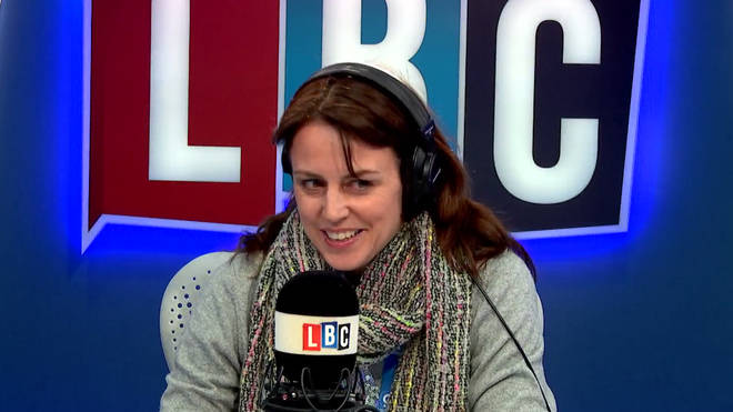 Beverley Turner in the LBC studio.